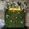 Rental Moss wall with additional floral garland